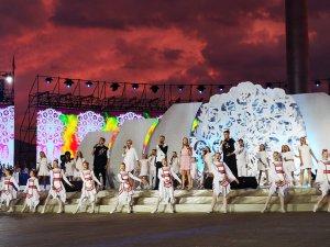 концерт и церемония прибытия Пламени мира на II Европейских играх